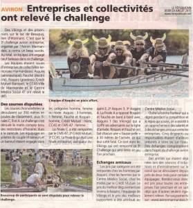 Article Le Républicain Aviron Entreprises
