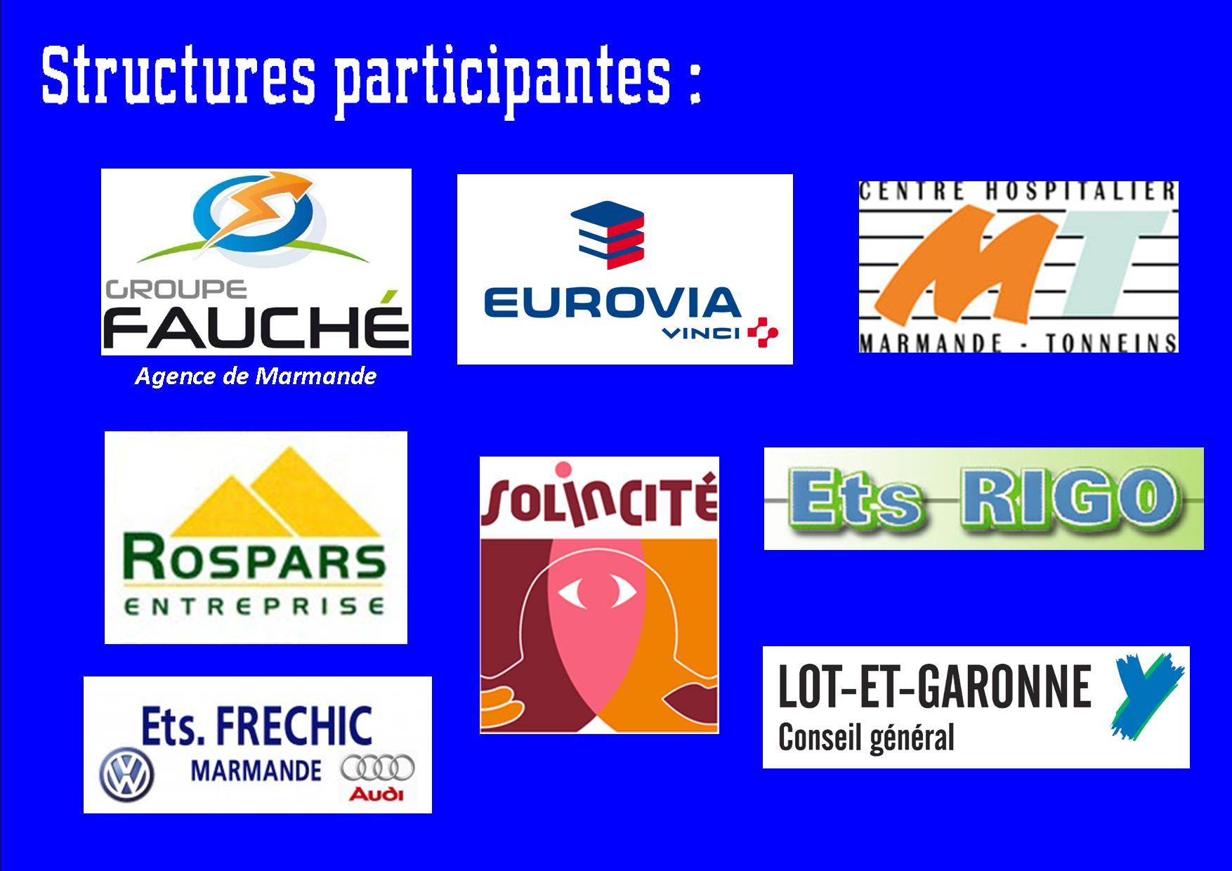 Structures participantes